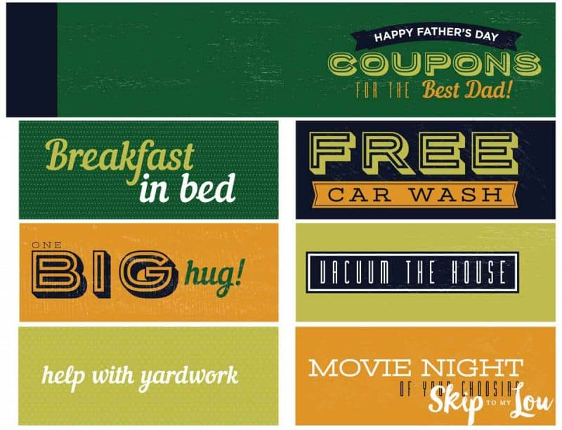 Free Printable Father\u0027s Day Coupon Book Skip To My Lou - Coupon Book Printing