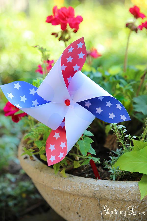 Printable Fourth Of July Pinwheels Skip To My Lou