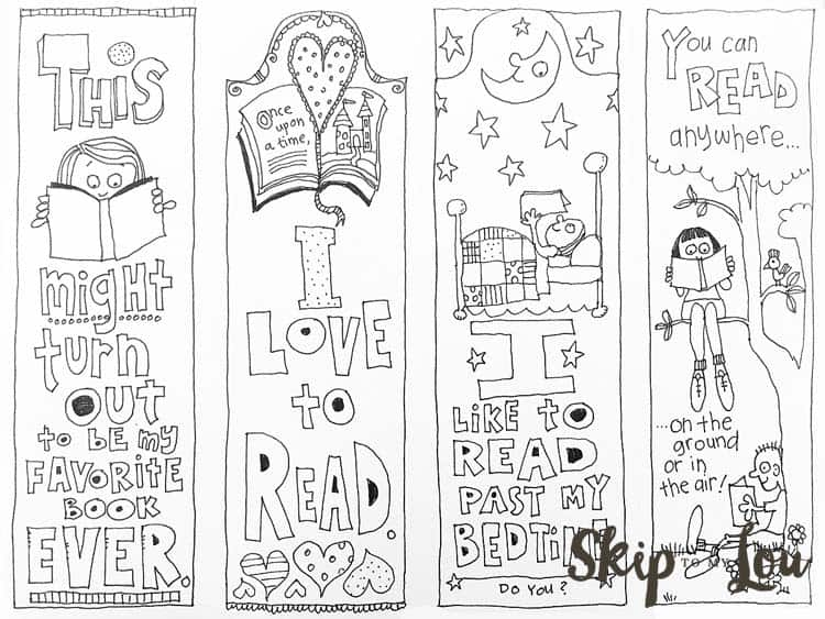 Free Coloring Bookmarks Skip To My Lou - bookmark coloring pages