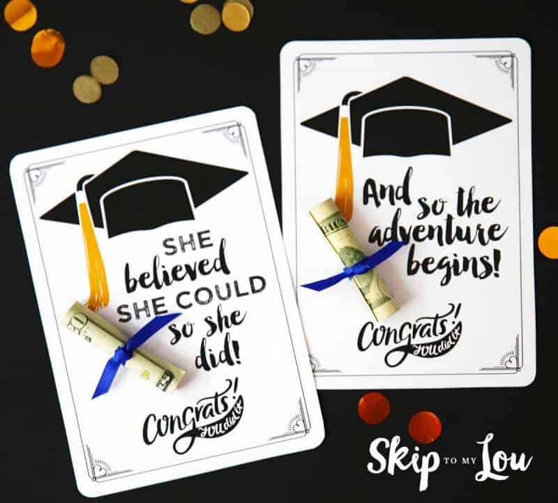 Free Graduation Cards with Positive Quotes and CASH! - print grad cards