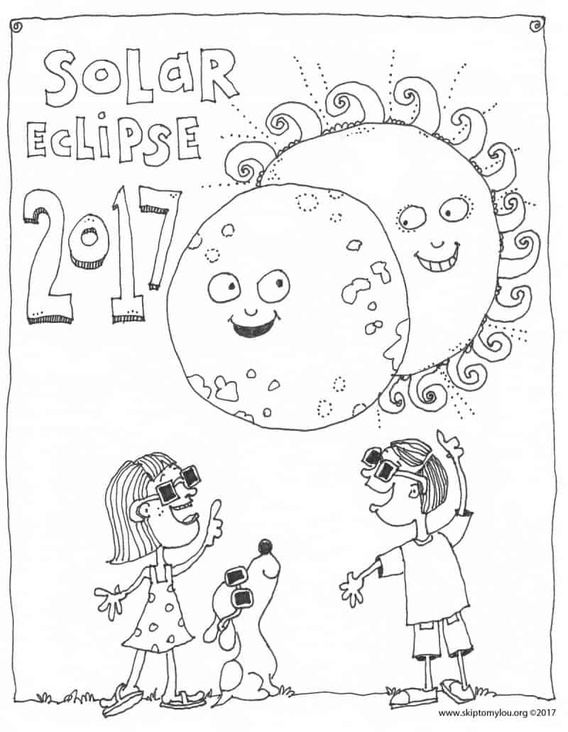 coloring pages eclipse