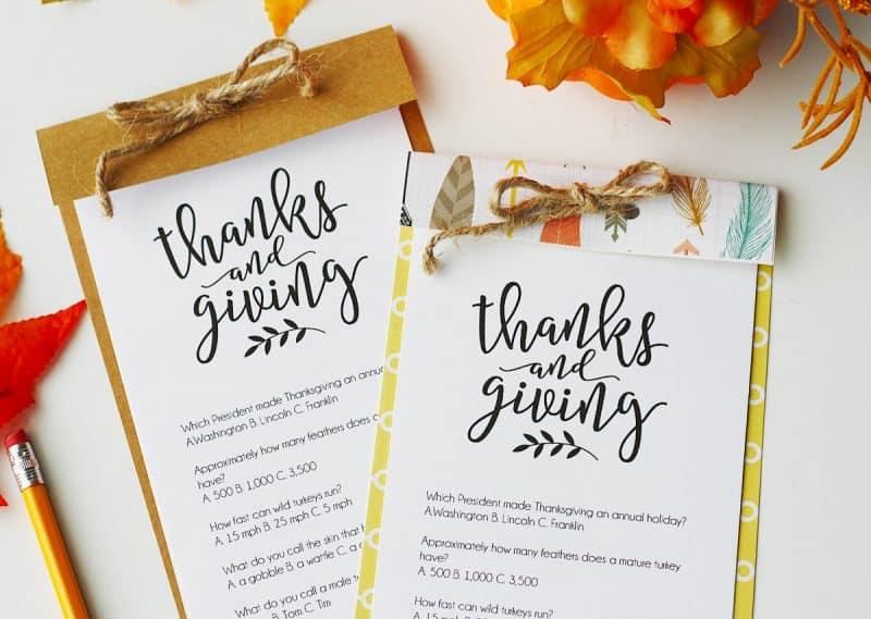 Thanksgiving Trivia {Free Printable} Skip To My Lou
