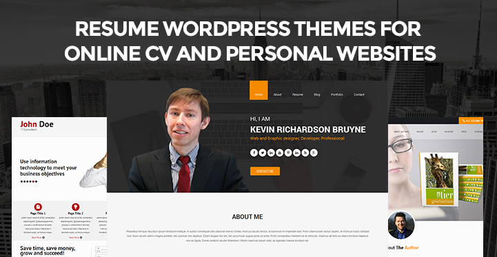 Resume WordPress themes for Online CV  Personal websites SKT - resume wordpress theme