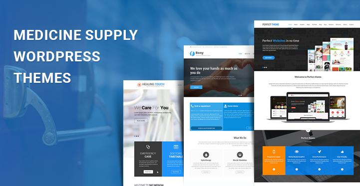 Medicine Supply WordPress Themes for creating Medical Websites - SKT
