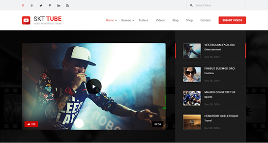 Video WordPress theme for videographers video shooting recording