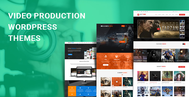 Video Production WordPress Themes for filmmaker film studio websites