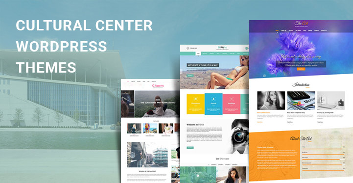 Cultural Center WordPress Themes for art centers exhibition and
