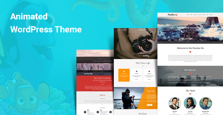 Animated WordPress Themes for animation effects and creative