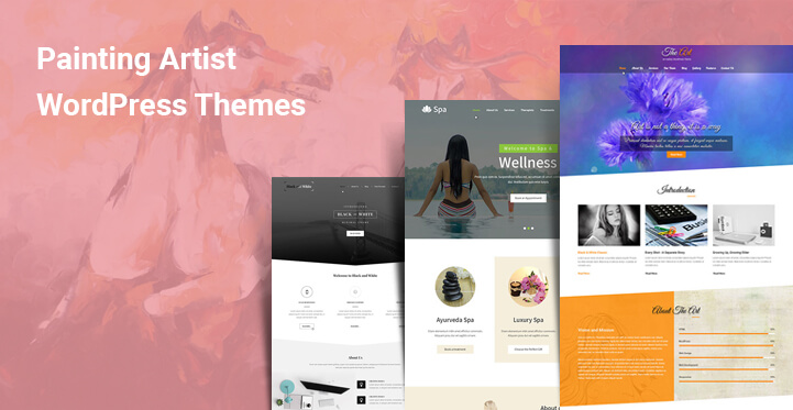 Painting Artist WordPress Themes for art exhibition graphics