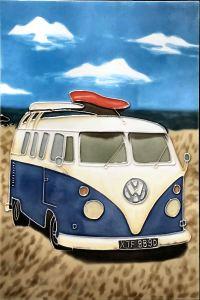 Campervan art tile - Skye Tiles - Hand Painted Ceramic ...
