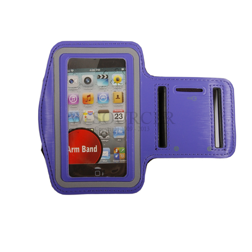 Pale Blue Running Sport Velcro Armband Holder Case For