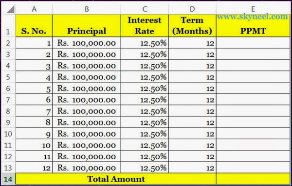 Using PPMT Function Creating a Mortgage Calculator in Excel - formula to calculate mortgage payment in excel