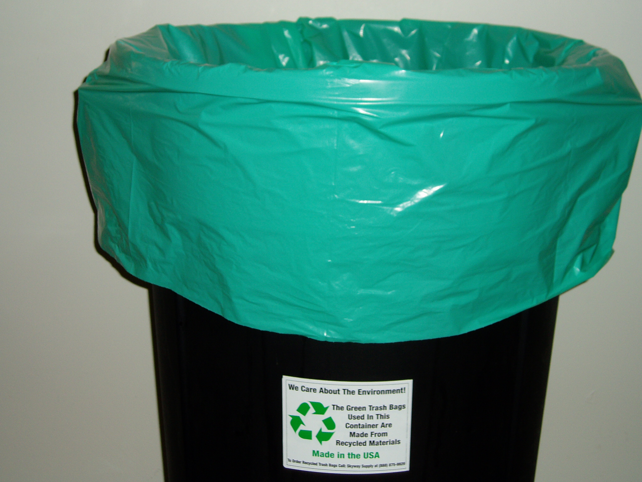 Green Recycled Trash Bags