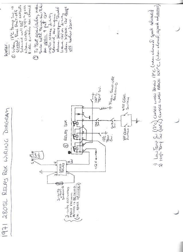 mercedes 280sl fuse box diagram