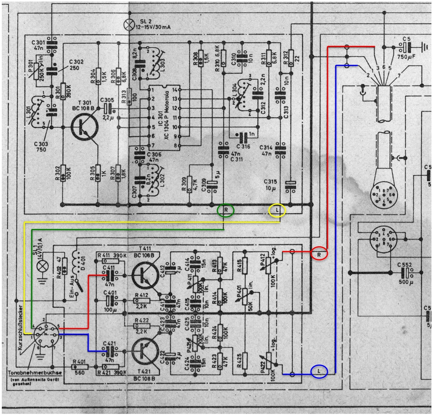 1 4 cable wiring diagram