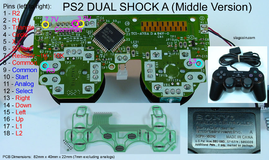 playstation 2 controller wiring diagram of