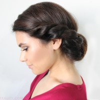 Date Night Hair: Twisted Low Roll Updo Tutorial