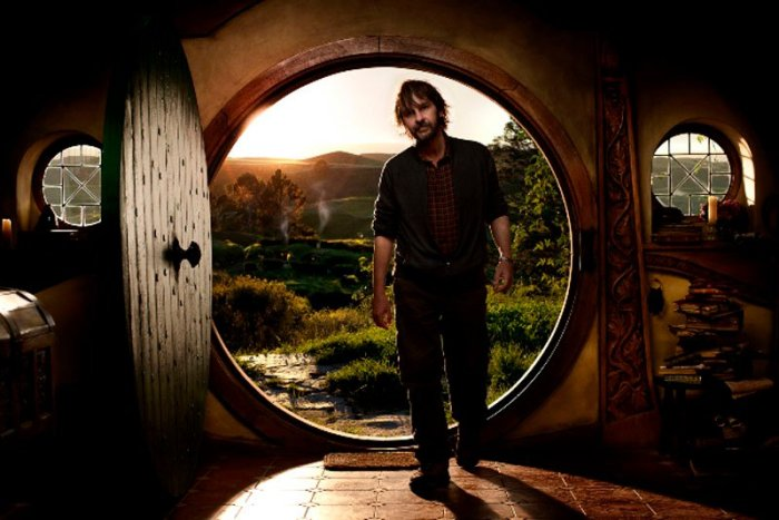 Peter Jackson on the set of The Hobbit