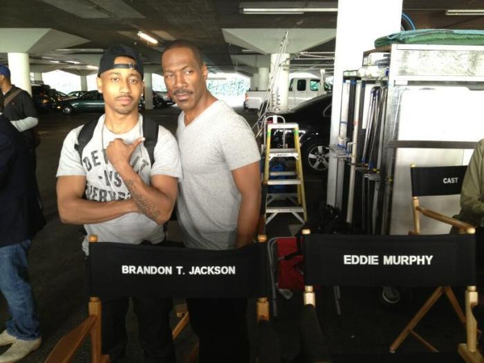 Beverly Hills Cop - Brandon T Jackson and Eddie Murphy