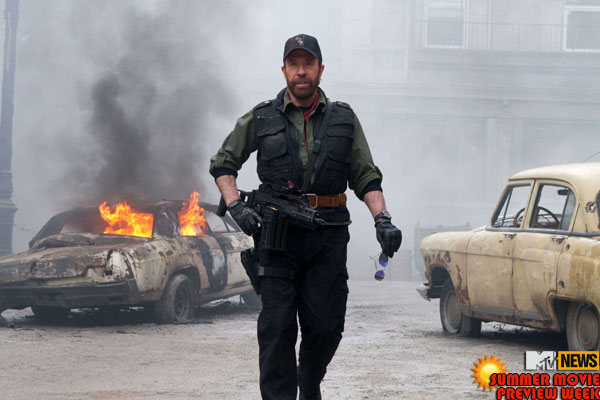 Chuck Norris in The Expendables