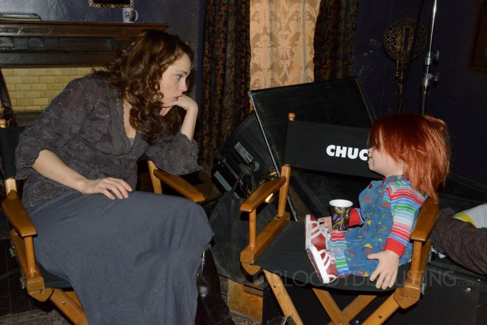 Curse of Chucky - Fiona Dourif and Chucky