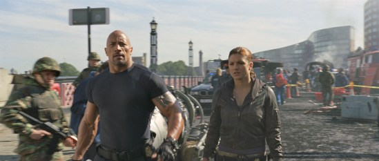 Fast and Furious 6 - Dwayne Johnson and Gina Carano
