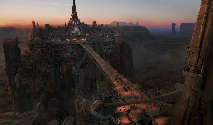 John Carter concept art: helium at dusk