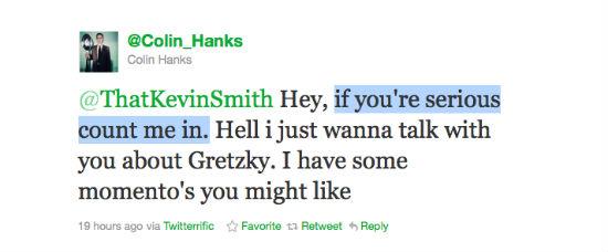 Hanks Smith Tweet