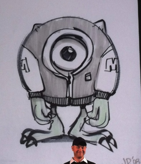 Early 2008 concept art image from Monsters University