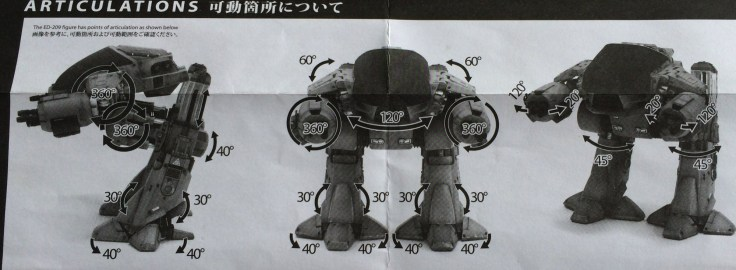 Hot Toys Robocop ED-209 Sixth Scale Figure instructions illustration