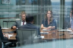 Iron Fist - Danny Rand (Finn Jones) and Joy Meachum (Jessica Stroup) in conference room