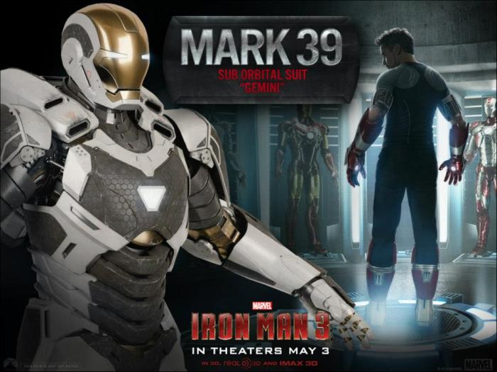 Iron Man 3 Mark 39 Space Suit
