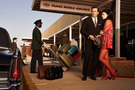 Mad Men final season images - Don Draper and Megan Draper