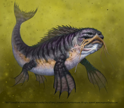 Men in Black 3 - Alien Fish concept art 1