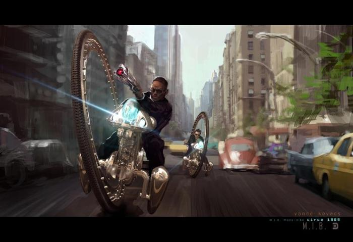 Men in Black 3 - Monowheel concept art 1
