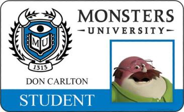 Monsters University ID - Don