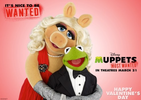 Muppets Most Wanted Kermit and Miss Piggy Valentine