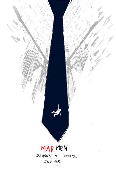 Olly Moss - Mad Men rough