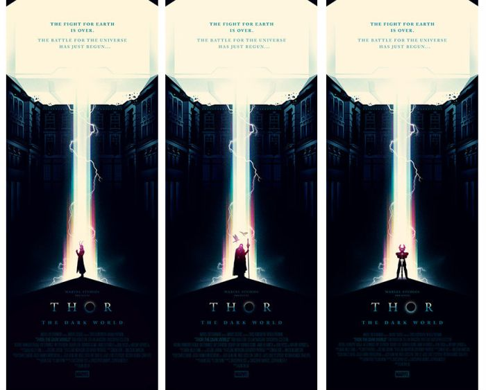 Olly Moss Thor Dark World triple