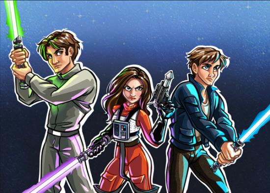 Star Wars Episode VII fanart - Solo Triplets