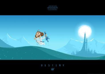 Star Wars - Little Leia's Destiny by Nick Scurfield