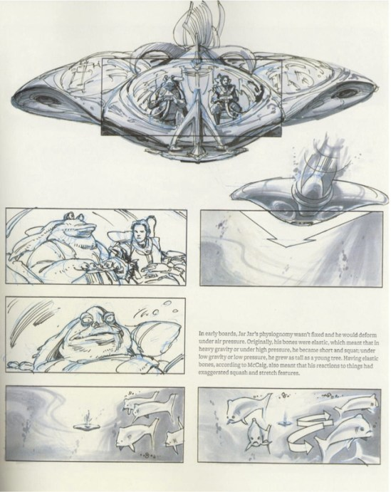 Star Wars Storyboards Prequel Trilogy - Jar Jar