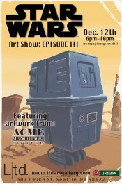 Star Wars The Art Show Episode III poster by Steve Thomas