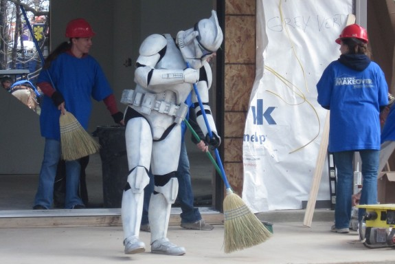 Stormtrooper on Extreme Makeover Home Edition