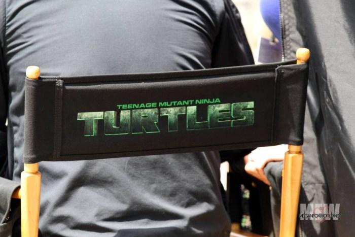 MEGAN FOX am Set von 'Teenage Mutant Ninja Turtles'