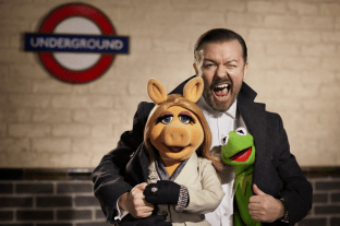 The Muppets Again - Ricky Gervais, Miss Piggy, Kermit