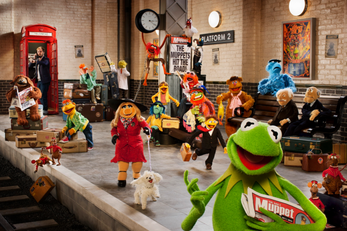 The Muppets Again - train station with James Bobin