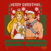 He-Man She-Ra Christmas Faux Ugly Sweater