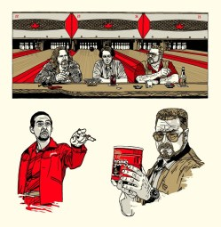 Tyler Stout's The Big Lebowski handbill