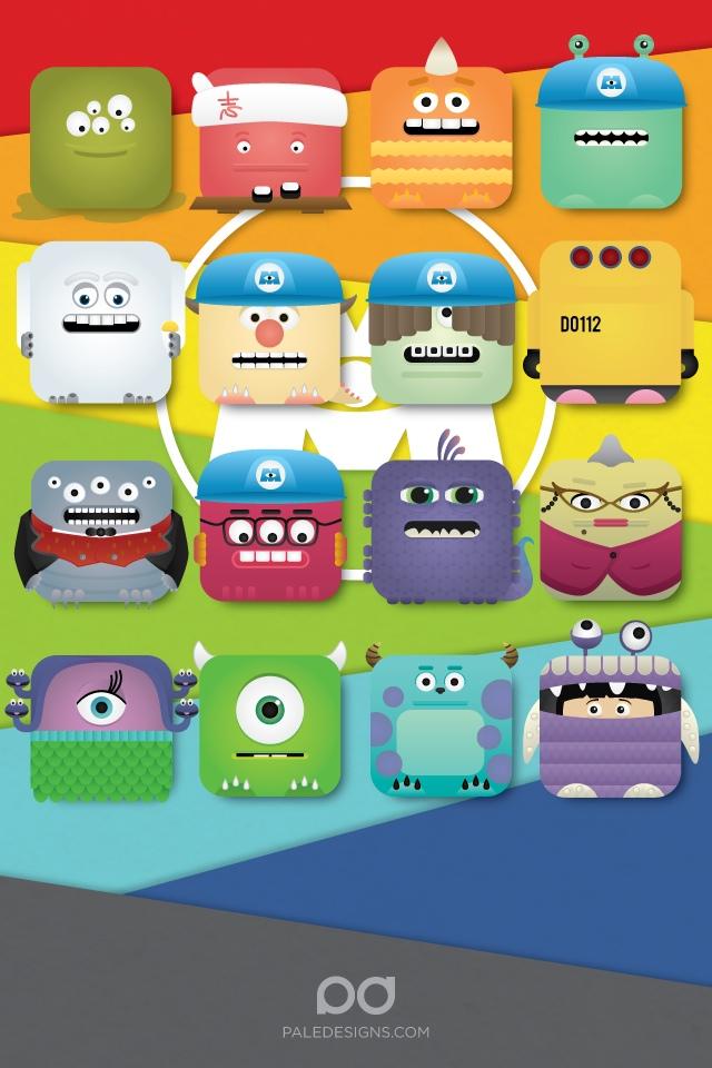Iphone Collage Wallpaper Maker Page 2 Tim Burton Popeye Star Wars Monsters Inc Evil